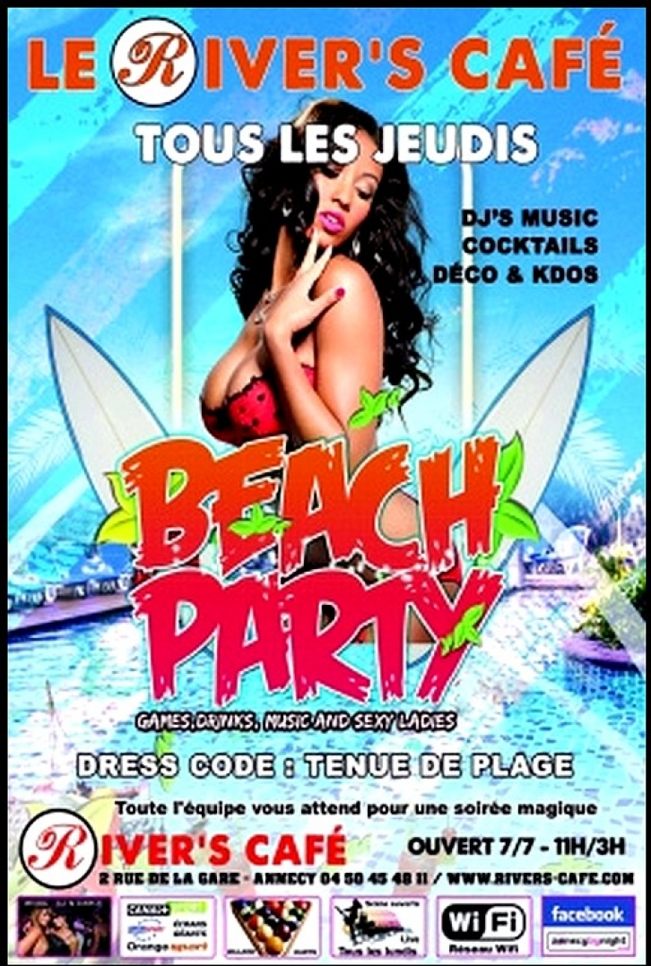 Beach Party au River's Café !