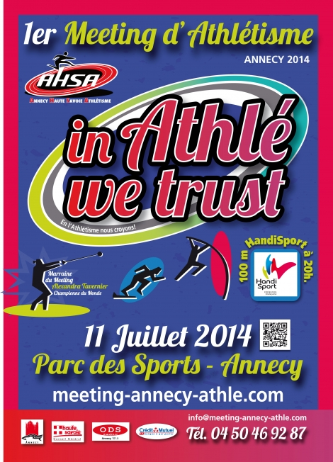 Meeting Club Annecy Haute-Savoie Athlétisme, in Athlé we trust !