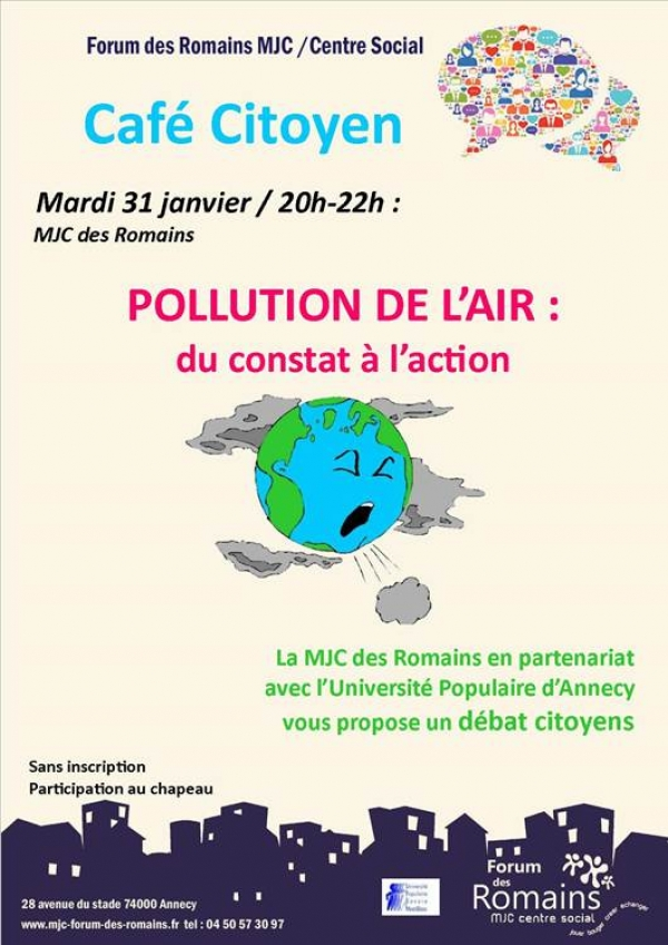 Café citoyen sur la pollution de l'Air à Annecy
