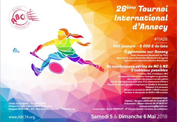 26e Tournoi International d'Annecy en badminton
