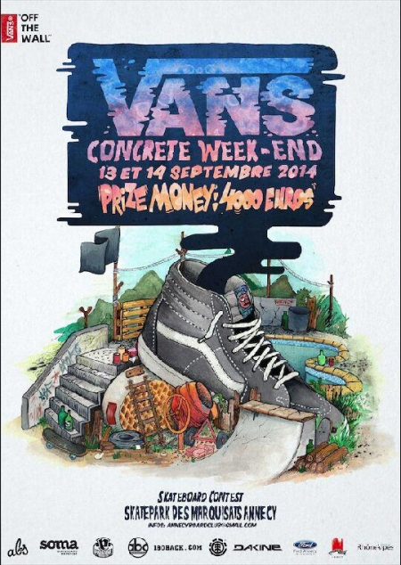 Du skate à Annecy, Vans concrete week-end 2014